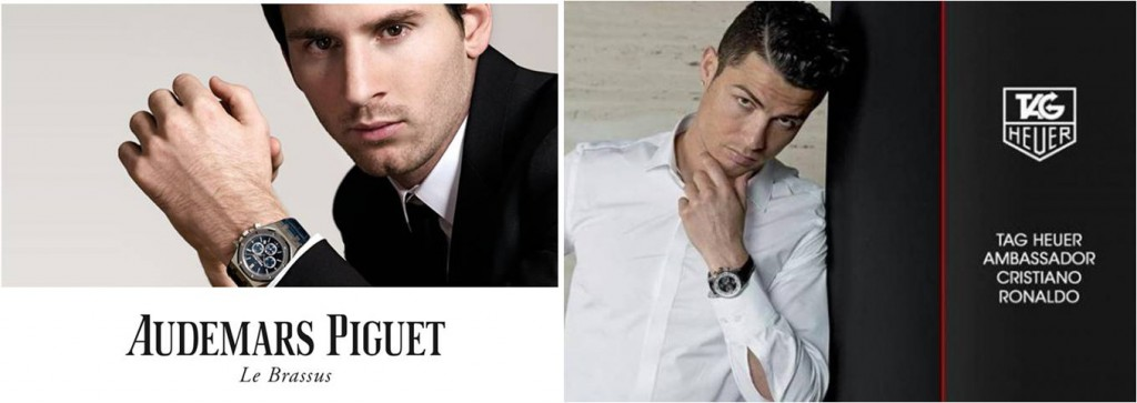Cristiano CR7 ambassador tag heuer watches Messi Audemars Piguet