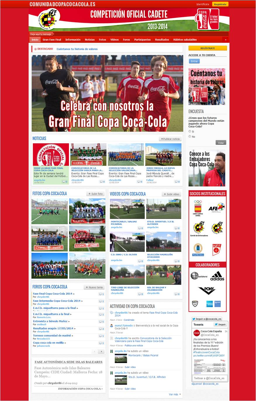 Comunidad Copa Coca Cola web final 2013 2014