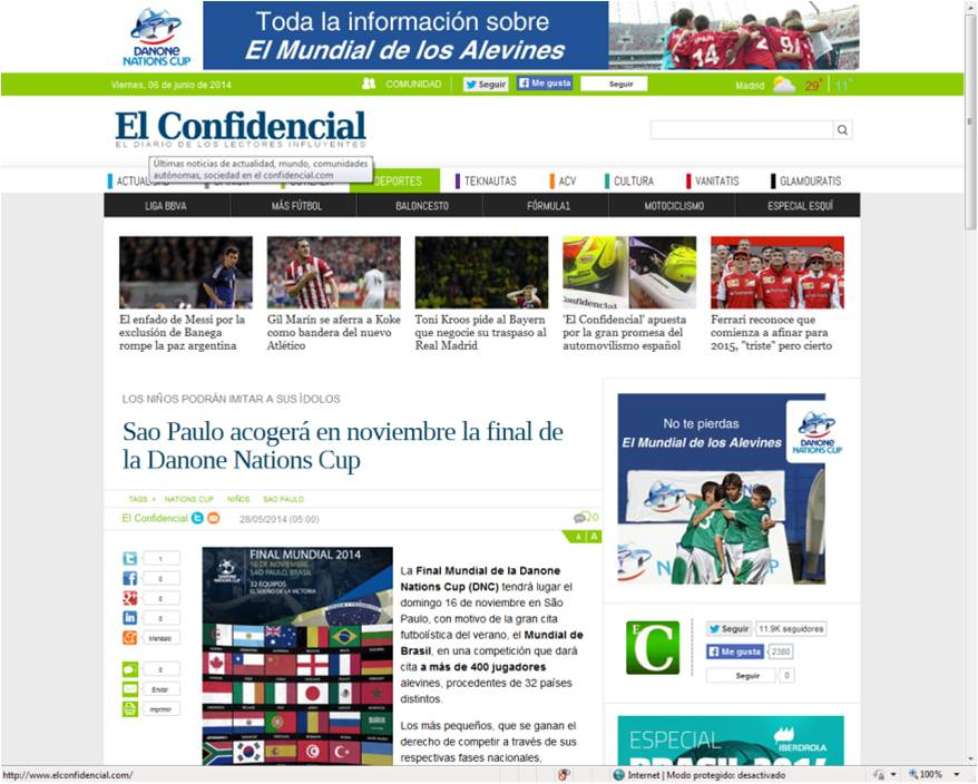 el confidencial danone nations cup final españa 2014