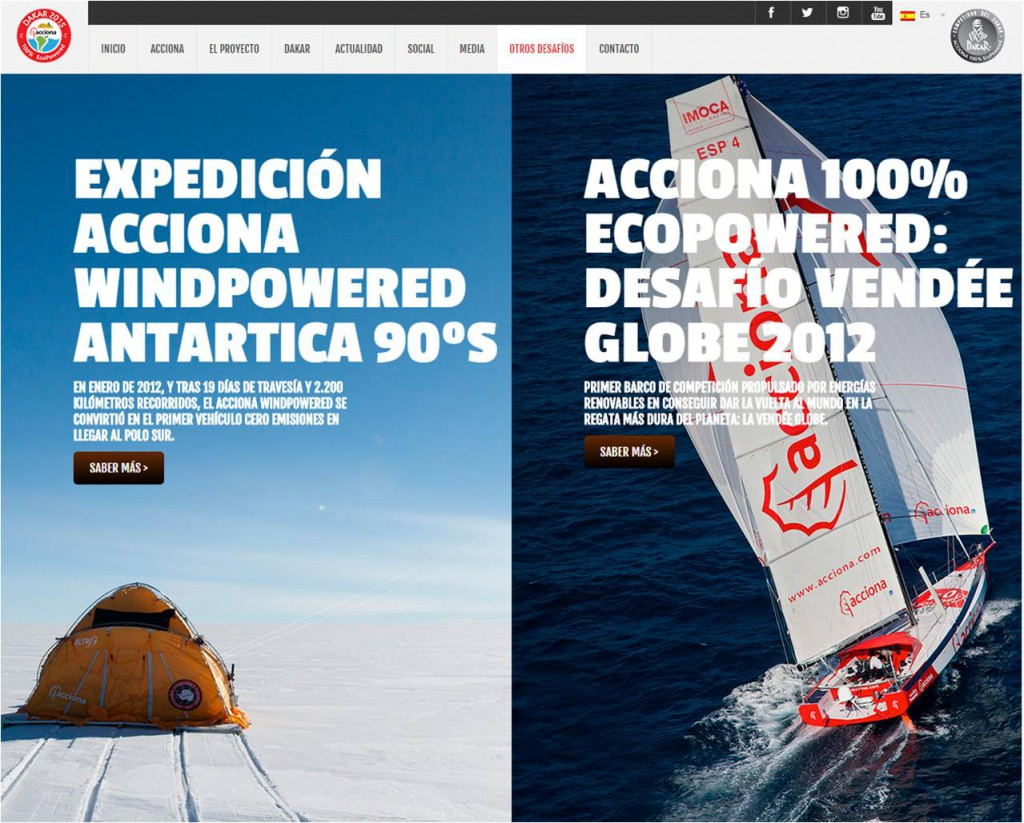 Expedición Acciona windpowered antartica y Ecopowered desafio vendee globe challenge