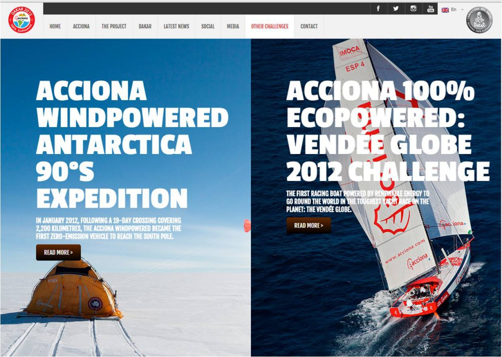 Expedition Acciona windpowered Antarctica and Ecopowered Vendee globe challenge