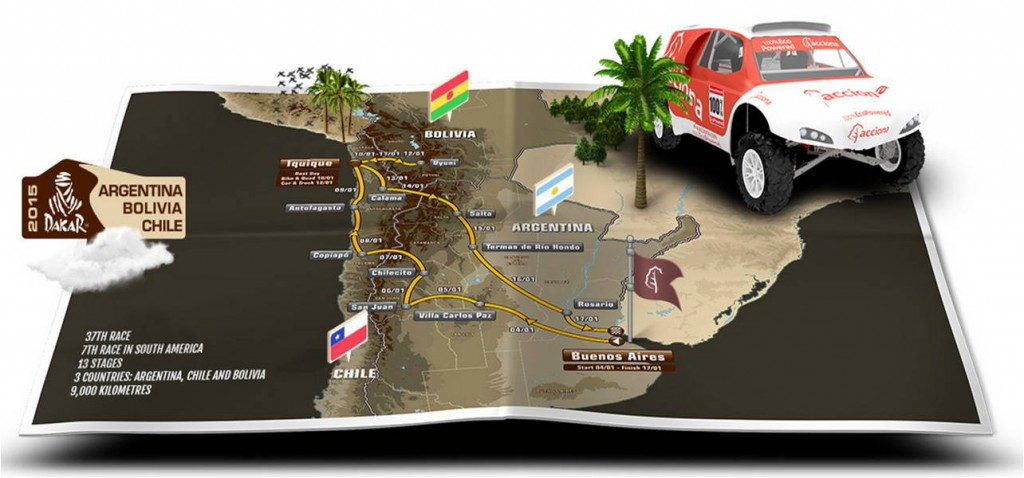 Rally Dakar 2015 Resume Map Argentina Bolivia Chile